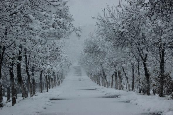 Kar Diyarbakır'da bir başka güzel