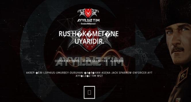Ayyıldız Tim Rus sitelerini hackledi