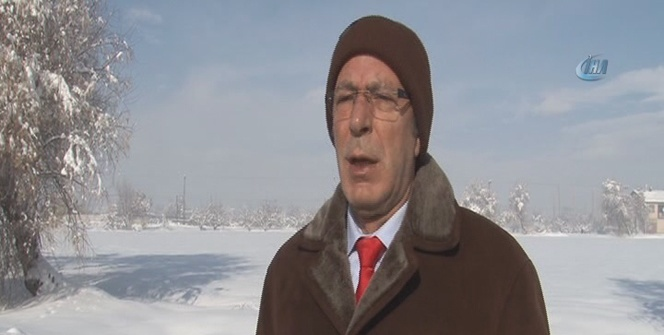 Konya Ovası'nda kar yağışı umutlandırdı