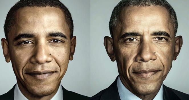 Obamanın görevi boyunca yaşadığı değişim yüzüne yansıdı