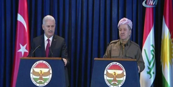 Başbakan Yıldırım'dan Erbil'de flaş PKK çıkışı