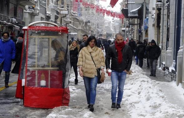 Taksim'de kartpostallık görüntüler