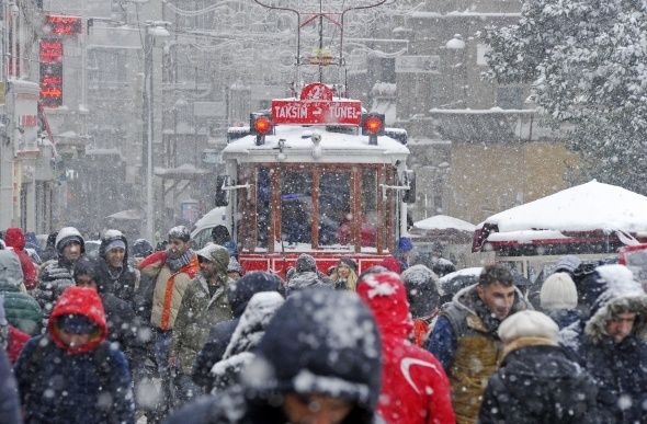 Taksim Meydanı'nda seyrine doyumsuz manzara
