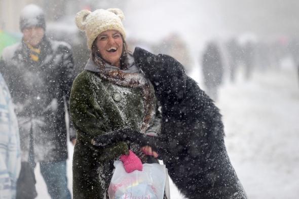 Taksim'den kar manzaraları