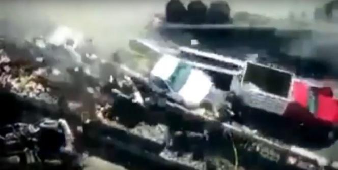 Kaza yapan araçlar işçileri biçti!