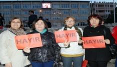 Burdurda CHPden anayasa protestosu