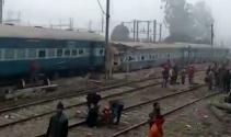 Hindistanda tren raydan çıktı: 26 ölü