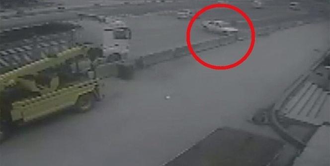 Kocaeli'nde bir kişinin öldüğü trafik kazası kamerada