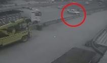 Kocaelinde bir kişinin öldüğü trafik kazası kamerada