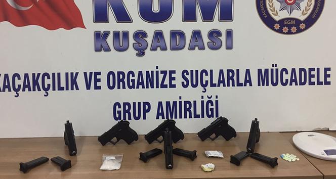 Kuşadasında silah kaçakçılığı operasyonu