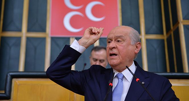 MHP Lideri Devlet Bahçeli: Bayrağı bugün ele çizen yarın yele verir
