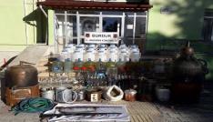 Burdurda sahte içki imalathanesine baskın