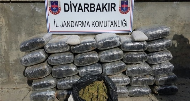 Diyarbakırda terör örgütüne darbe: Tam 574 kilogram esrar ele geçirildi