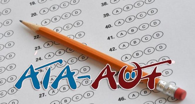 ATA AÖF 28 29 Ocak sınav sonuçları açıklandı | ATA AÖF sınav sonuçları