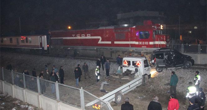 Manisada tren kazası: 1 ölü 4 yaralı