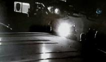 Muğla'da spin atan otomobilin kamera görüntüleri ortaya çıktı