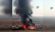 Palet fabrikası alev alev yandı...O anlar kamerada