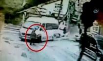 Minibüsün yaşlı adamı ezme anı kameralara yansıdı