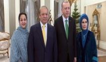 Erdoğan ile Pakistan Başbakanı Şerif yemekte bir araya geldi