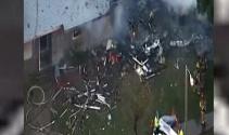 ABDde uçak evlerin üzerine düştü: 4 ölü