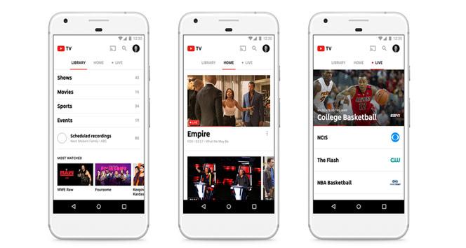 Google canlı yayın televizyonu: YouTube TV