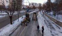 Doğu'da kar ve buzla mücadele çalışmaları   Erzurum haberleri