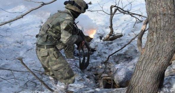 11 teröristin öldürüldüğü operasyondan kareler