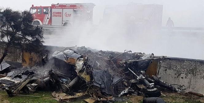 İstanbul Büyükçekmece'de helikopter düştü: 5 ölü