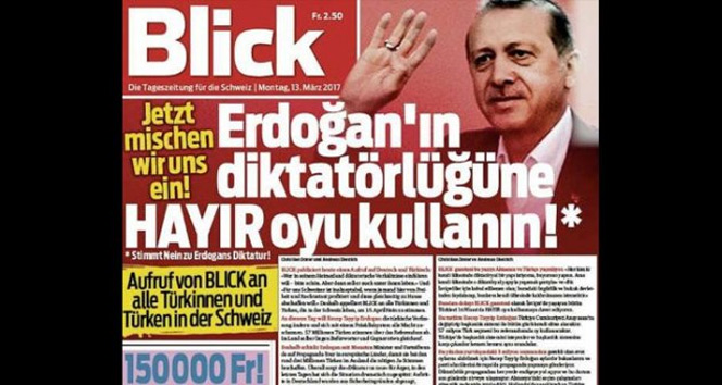 İsviçrenin Blick gazetesi haddini aştı