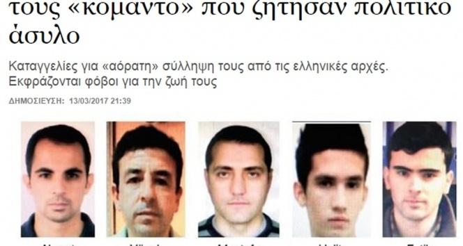 Yunan medyası: 5 darbeci asker daha Yunanistanda