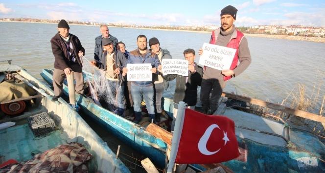 Balıkçılar şokla avlanmayı protesto etti