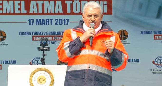 Başbakan Yıldırımdan Gümüşhanede işçilere ikramiye müjdesi