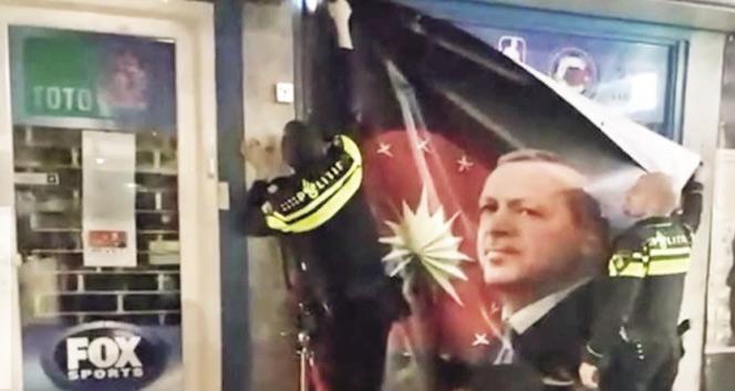 Hollandanın Erdoğan korkusu! Şimdi de posterini indirdiler...