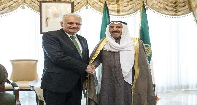 Başbakan Yıldırım, Kuveyt Emiri El-Sabah ile bir araya geldi