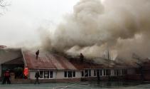 Zonguldakta anaokulu alev alev yandı