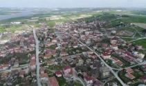 İstanbulun Leylekli köyü havadan görüntülendi