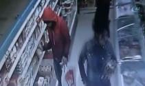 Kaşar peyniri hırsızları kamerada