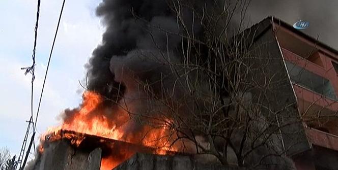 Şişli'de gecekondu yangını