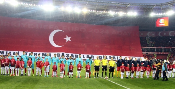 Türkiye Moldova maçı özel kareler