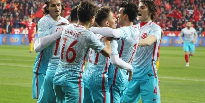 Türkiye Moldova maçı foto özet