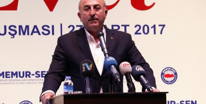 Bakan Çavuşoğlu: Avrupa'da terör çizgisine gelen siyasi partiler var