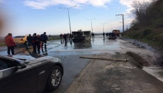 Rizede trafik kazası: 1 ölü, 1 ağır yaralı