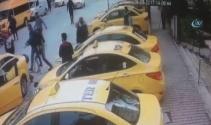 Taksici dayağı güvenlik kamerasında