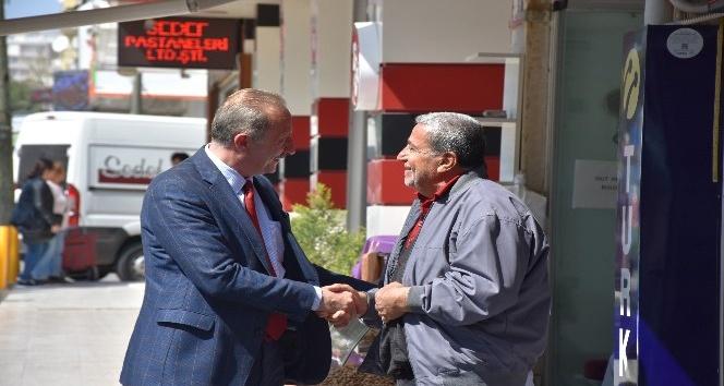 Başkan Atabay, esnaf ziyaretinde