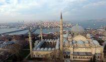 Restore edilen Süleymaniye Medreseleri havadan görüntülendi