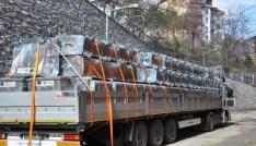 Tunceliye 125 adet çöp konteyneri hibe edildi