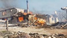 Çankırıda köy yangını: İlk belirlemelere göre 25 ev yandı