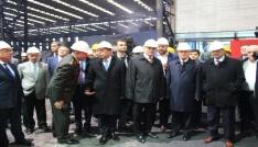 Bakan Özlü, demir-çelik fabrikasını ziyaret etti