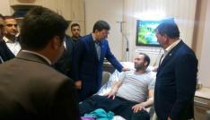 AK Parti Genel Başkan Yardımcısı Yılmaz, yaralı korucuyu ziyaret etti