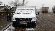 Bingölün Yedisu ilçesine kar yağdı